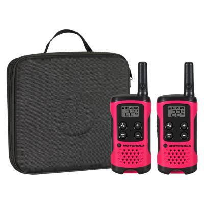 16-Mile Range AAA Neon Pink Talkabout Series Molded Soft Carry Case (2-Pack)