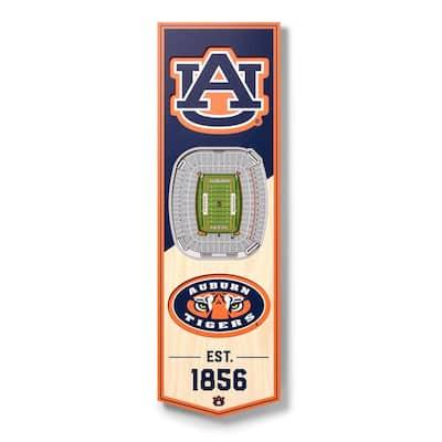 NCAA Auburn Tigers 6 in. x 19 in. 3D Stadium Banner-Jordan-Hare Stadium