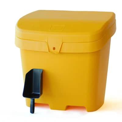 4.2 cu. ft. Outdoor Salt, Sand and Storage Bin with Scoop, Yellow