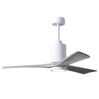Patricia 52 in. Integrated LED Indoor/Outdoor Gloss White Ceiling Fan with Light with Remote Control and Wall Control