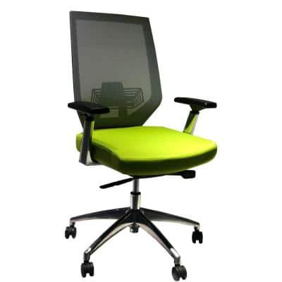 Green and Gray Adjustable Mesh Back Ergonomic Office Swivel Chair with Padded Seat and Casters