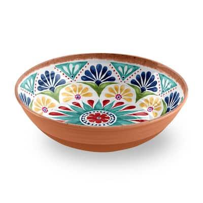 Rio Medallion Low Melamine Serve Bowl (Set of 1)