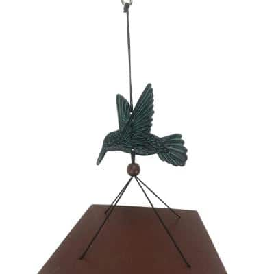 Chime Patina Hummingbird
