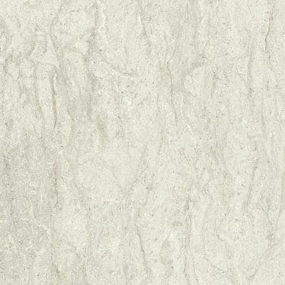 2 in. x 3 in. Laminate Sheet Sample in White Cascade with Standard Fine Velvet Texture Finish