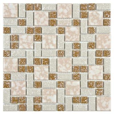 University Beige 11-3/4 in. x 11-3/4 in. x 5 mm Porcelain Mosaic Tile (9.8 sq. ft. / case)