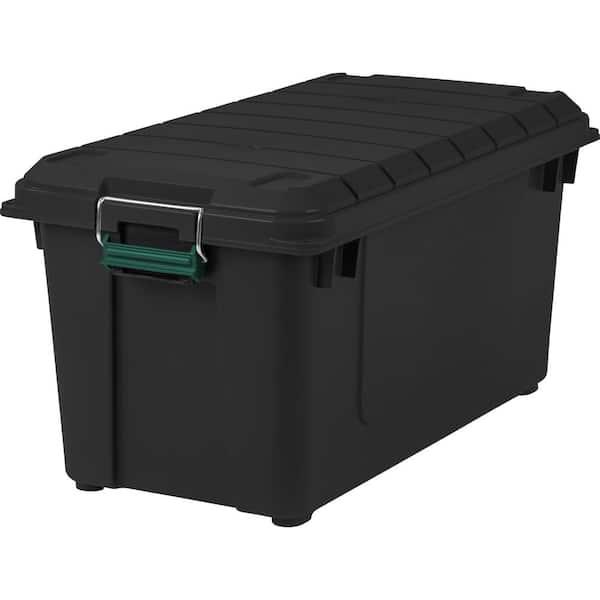 Iris 82 Qt Remington Weather Tight, Home Depot Storage Baskets