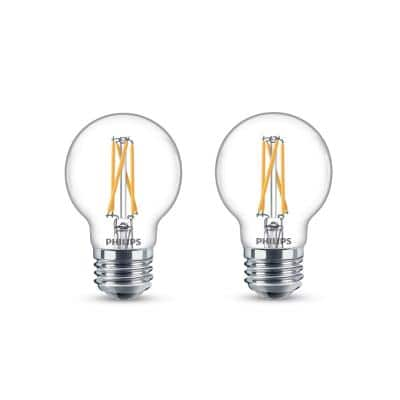 60-Watt Equivalent G16.5 Dimmable LED Light Bulb with Warm Glow Dimming Effect Soft White (2-Pack)
