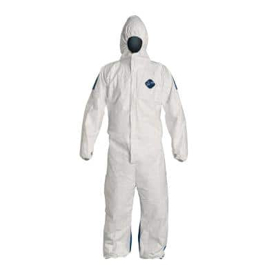 DuPont Tyvek Dual 2XL White Coverall with Hood