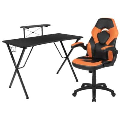 51.5 in. Black Gaming Desk and Chair Set