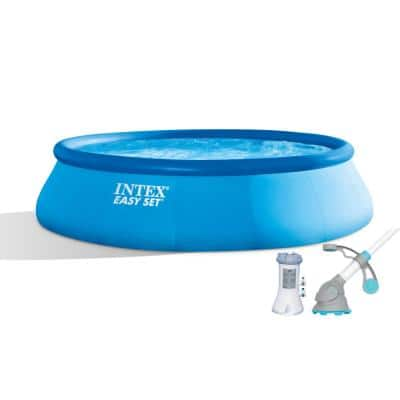 15 ft. x 42 in. Easy Set Pool with 1000 GPH Pump and Kokido Krill Automatic Vacuum