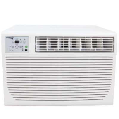 12,000 BTU Window Air Conditioner with Heat and Remote in White