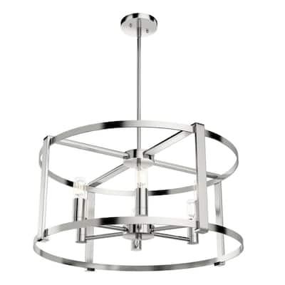 Astwood 6-Light Polished Nickel Drum Chandelier