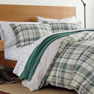Timbers Green Plaid Cotton Comforter Set