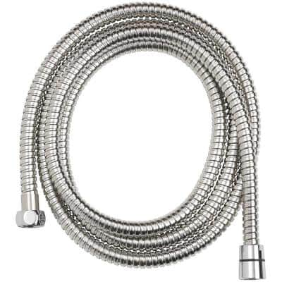 86 in. Stainless Steel Replacement Shower Hose in Chrome