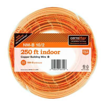 250 ft. 10/2 Orange Solid CerroMax SLiPWire CU NM-B W/G Wire