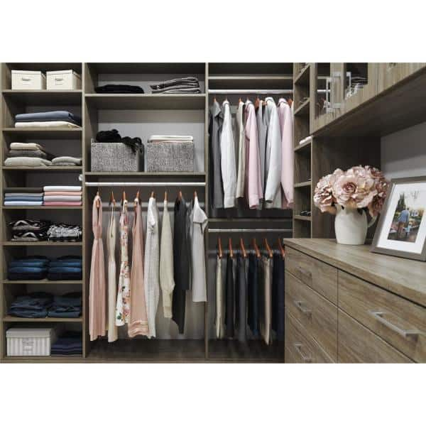 The Home Depot Installed Walk In Wood Closet Organization System Hdinstwiwcos The Home Depot