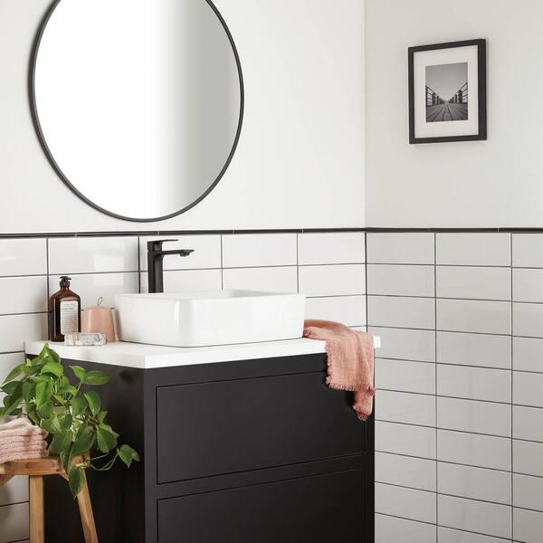 Daltile Restore 4 In X 12 In Glazed Ceramic Bright White Subway Tile 10 64 Sq Ft Case Re15412modhd1p2 The Home Depot