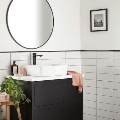 Restore 4 in. x 12 in. Glazed Ceramic Bright White Subway Tile (10.64 sq. ft. / case)