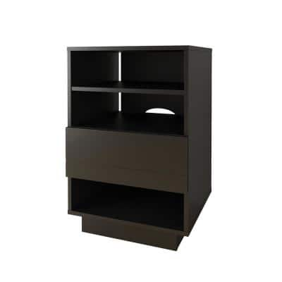 Stereo Black 1-Drawer Audio Cabinet
