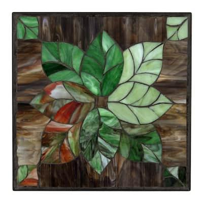 12 in. x 12 in. Leaf Decorative Garden Stone