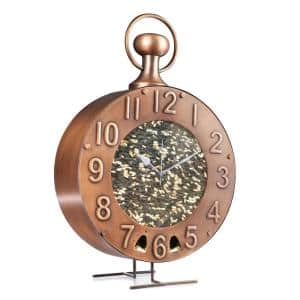 Time Flys Extra-Large Copper Bird Feeder, 5 lbs. Seed Capacity