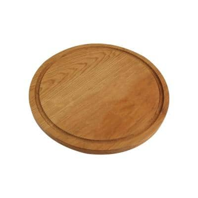 Delice Cherry Round Cutting Board with Juice Drip Groove