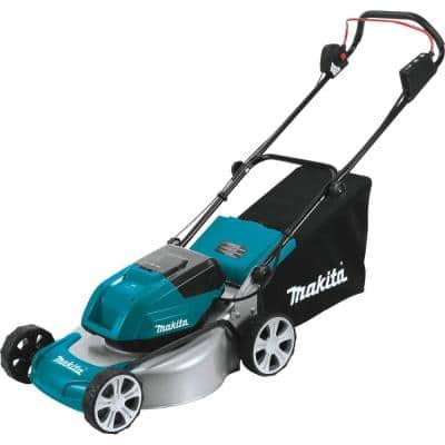 18 in. 18-Volt X2 (36-Volt) LXT Lithium-Ion Cordless Steel Deck Walk Behind Push Lawn Mower, Tool Only