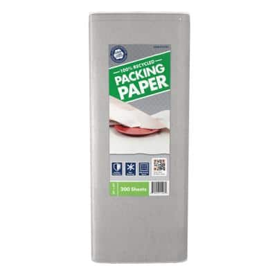 24 in. x 24 in. 100% Recycled Packing paper 200-Sheets (2-Pack)