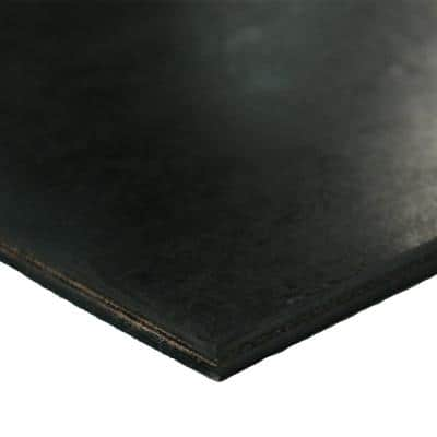 Heavy-Duty Conveyor Belt 0.30 in. Thick x 6 in. Width x 216 in. Length Black Cloth Inserted Rubber Sheet