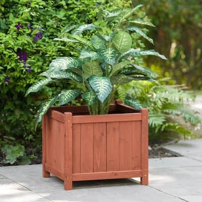18 in. Square Cedar Planter Box