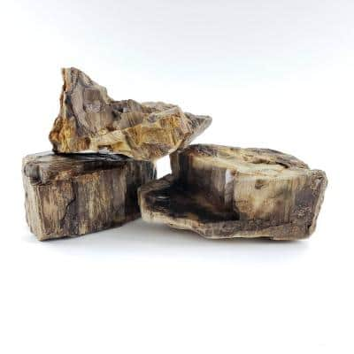 Decorative Stone Canyon Petrified Stone Large Size 8 in. to 12 in. 44 lbs. Box Approx 2 cu. ft.
