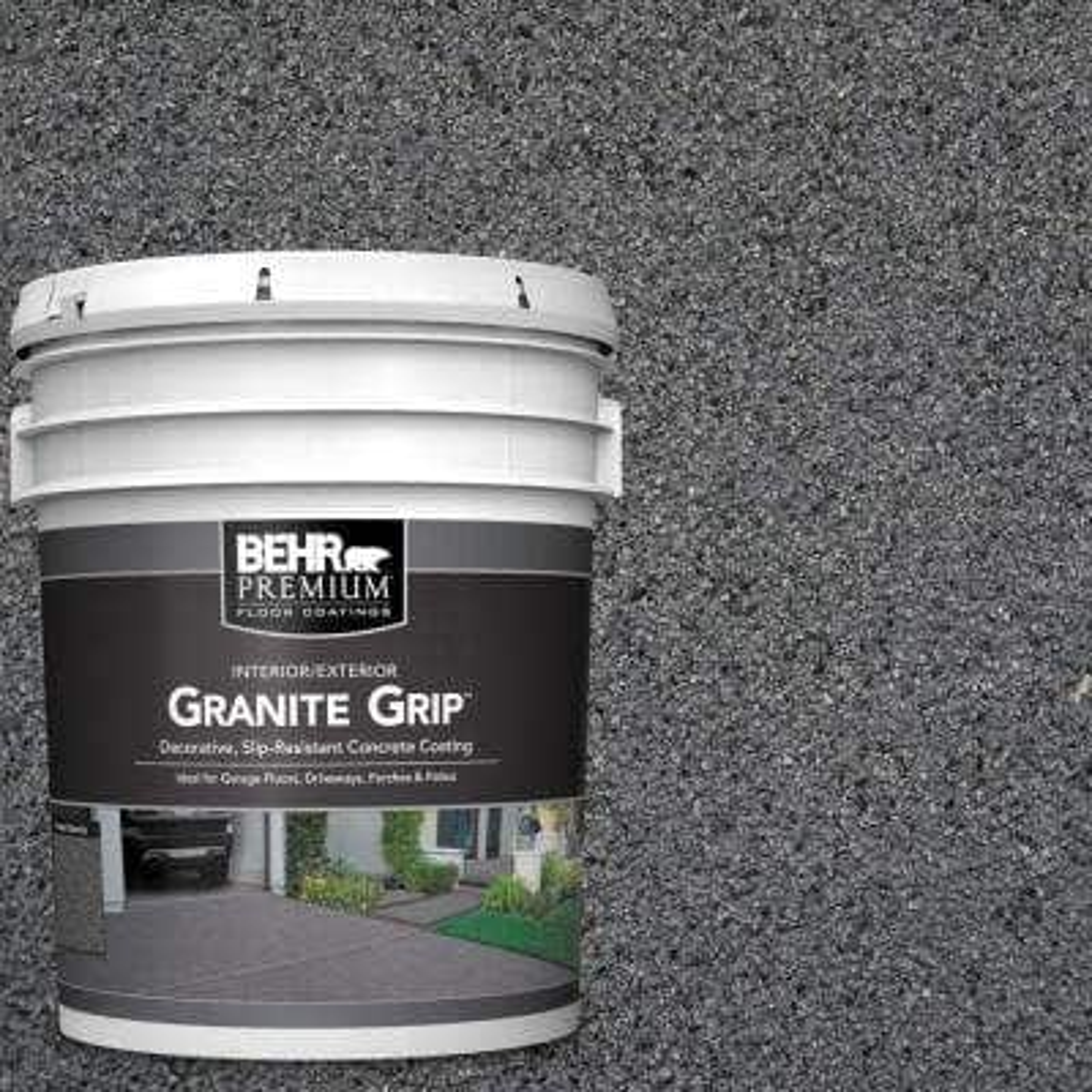 5 gal. #GG-17 Mineral Gray Decorative Flat Interior/Exterior Concrete Floor Coating