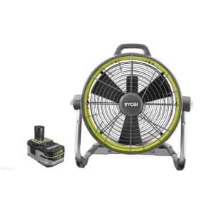 18-Volt ONE+ Hybrid 18 in. Air Cannon Drum Fan with 18-Volt ONE+ 4 Ah LITHIUM+ HP Battery (Charger Not Included)