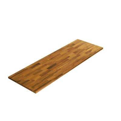 3/4 in. x 16 in. x 4 ft., Square Edge, Golden, Acacia, Select Appearance Board