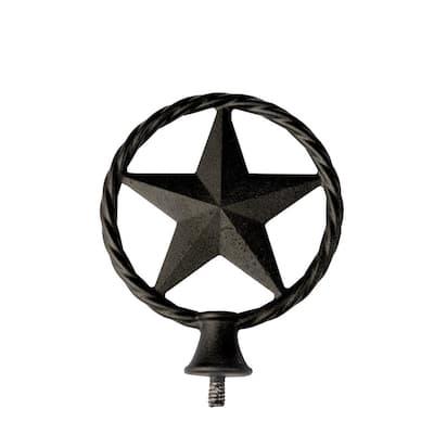 4 in. x 4 in. Metal Cast Texas Lasso Star Post Cap Finial
