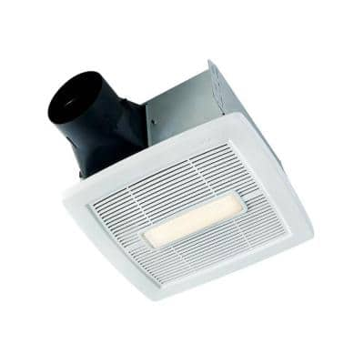 InVent Series 110 CFM Ceiling Installation Bathroom Exhaust Fan with Light, ENERGY STAR