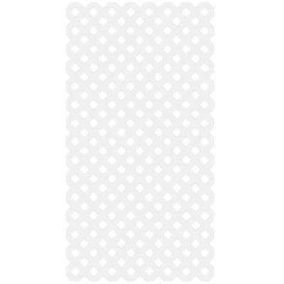 4 ft. x 8 ft. White Garden Vinyl Lattice
