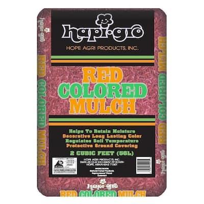 2.0 cu. ft. Red-Colored Mulch