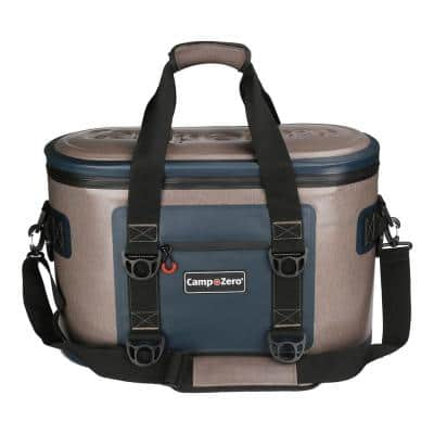 25.88 Qt. 40-Can Soft Cooler in Beige and Blue