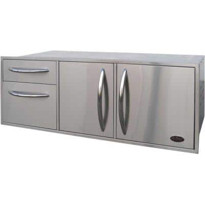 52.5 in. Wide Outdoor Kitchen Stainless Steel Complete Utility Storage Set