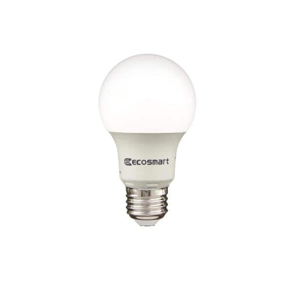 Ecosmart 40 Watt Equivalent A19 Non Dimmable Cec Led Light Bulb Soft White 8 Pack 1001022202 The Home Depot