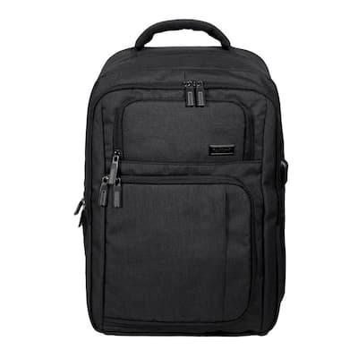 18 in. BLack Slim Pro USB Laptop Backpack