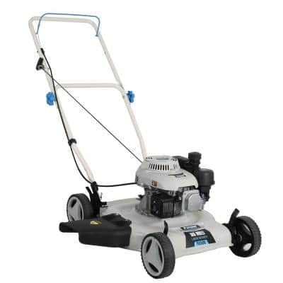 20 in. 150 cc Gas Recoil Start Walk Behind Push Mower with 3 Position Height Adjustment