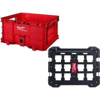 PACKOUT Tool Storage Crate with Mounting Plate