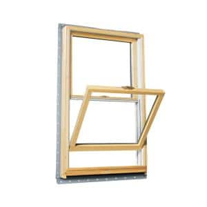 37.625 in. x 40.875 in. 400 Series Double Hung Wood Window with White Exterior