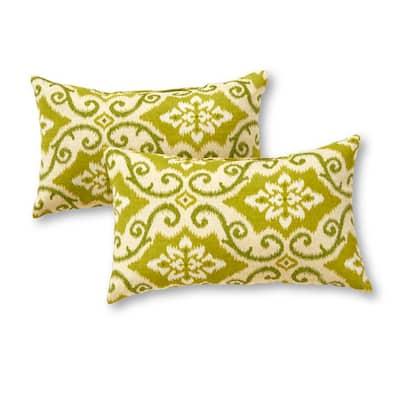 Shoreham Ikat Lumbar Outdoor Throw Pillow (2-Pack)