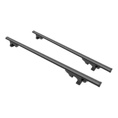 150 lbs. Capacity 53-3/8 in. Black Aluminum Universal Roof Rack Cross Bars (2-Pack)