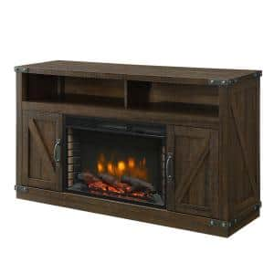 Aberfoyle 53 in. Freestanding Electric Fireplace TV Stand in Rustic Brown