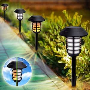 Solar Powered 2 Modes 21 Lumen LED Landscape Lighting Pathway Lights (Set of 4)