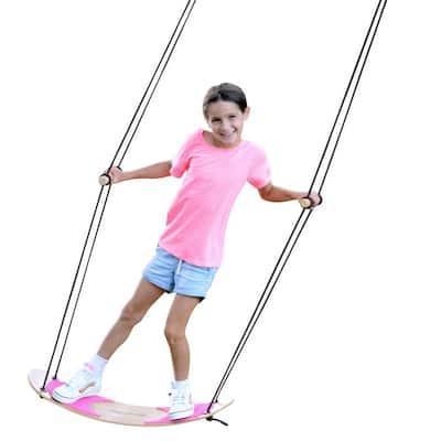 Swing-Board Stand-Up Bamboo Tree Swing